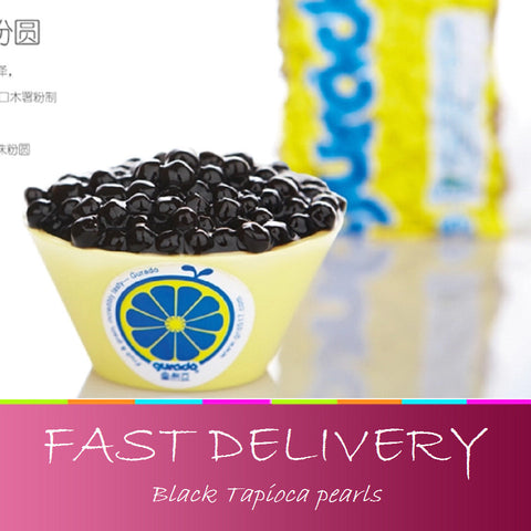 New Black Tapioca pearls beans pearl milk tea jelly milk tea raw materials vacuum loaded 500g