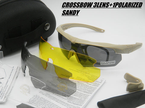 Tactical Crossbow sunglasses Military Goggles 3/5LS Red Fire Iridium lens Eyeshield outdoor Airsoft shooting protective gafas with boxes