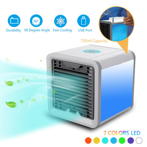 2018 New Air Cooler Arctic Air Personal Space Cooler Quick&Easy Way to Cool Outdoor Desktop Air Conditioner Home Portable Cooler