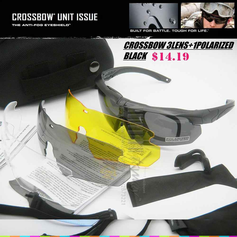 12d8a64d89b Tactical Crossbow polarized sunglasses Bullet-proof military UV400 Army  Profile Protective Goggles