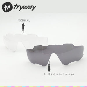 Tryway Photochromic lens TOP quality JBR lens/MYOPIA FRAME/polarized lens/Colorfully MTB Road lens