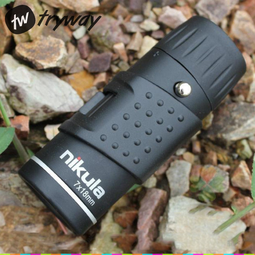 Nikula 7X18 telescope Mini Monocular Zoom Optical Outdoor hunting Floating Field/Marines binoculars
