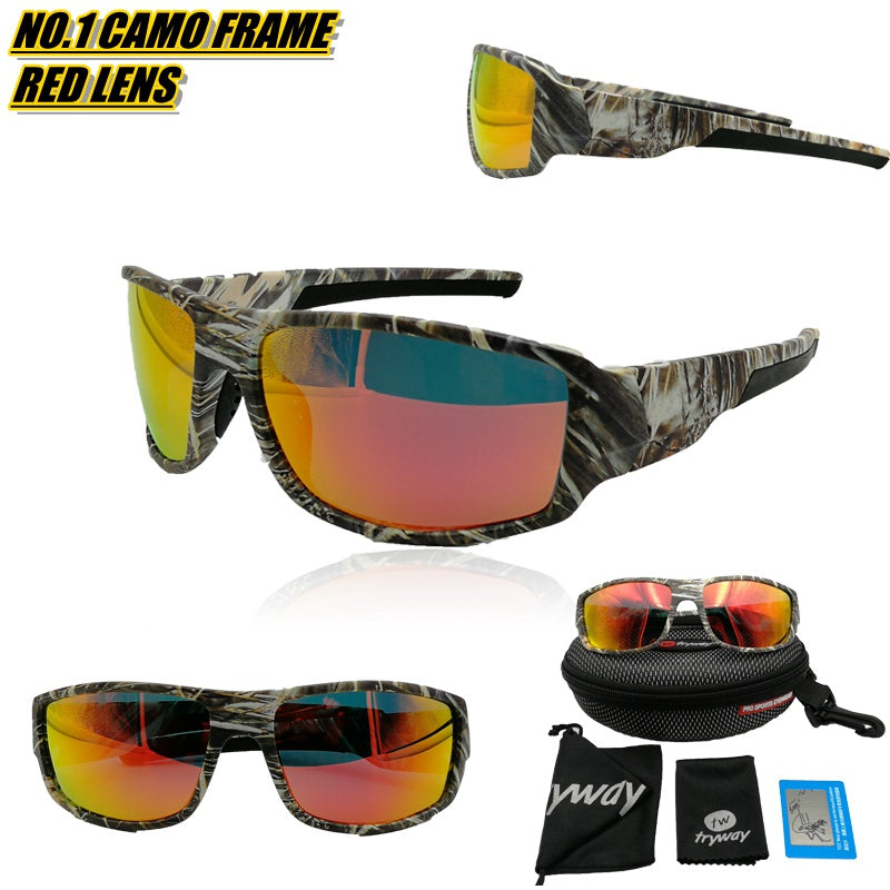 Polarized sunglasses men sport outdoor como frame moto cycling HD glasses TR90 Fishing Goggles