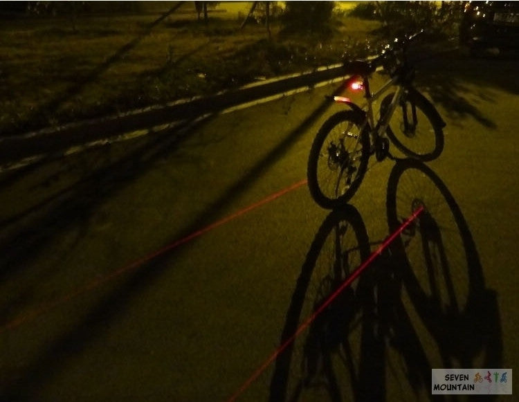 New Outdoor Cycling Camping safety Warning light bike Cycling 2 Laser Rear 5 LED Tail Light Lamp
