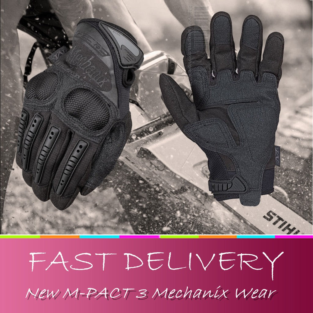 Tactical Wear M-PACT 3 GLOVES DUTY Ultra Knuckle Protection Gloves Impact Airsoft Paintball Carbon Fiber Gloves