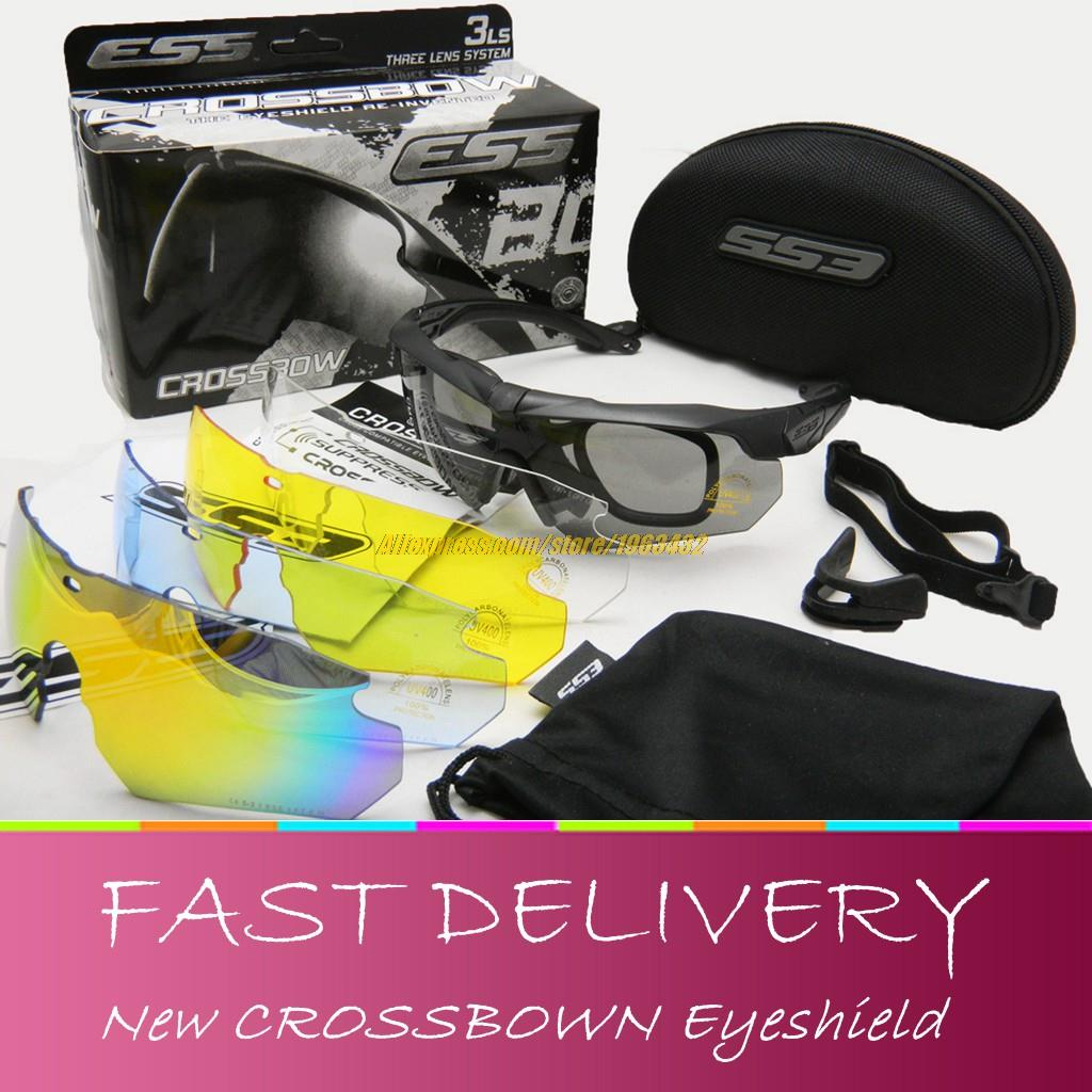 b20a6d3c43 Tactical Crossbow sunglasses Military Goggles 3 5LS Red Fire Iridium lens  Eyeshield outdoor Airsoft shooting