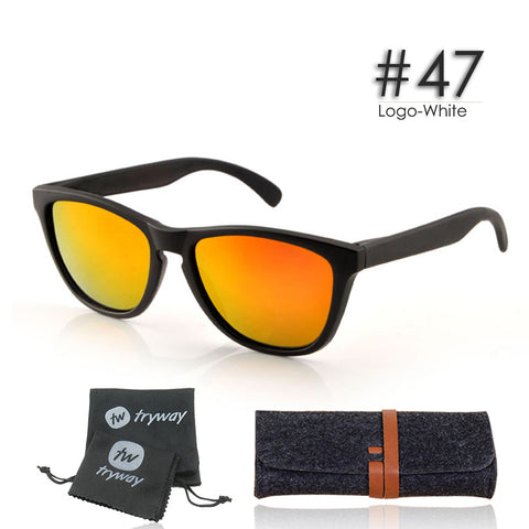 Polarized Sunglasses classic vintage oculos de sol TR90 VR 46 glasses Fire Iridium Lens 55mm Oculus
