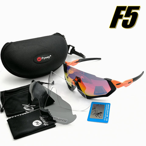 Flight Jacket goggles Polarized sunglasses 3lens men sport Road MTB glasses outdoor bicycle ciclismo Cycling JBR eyewear