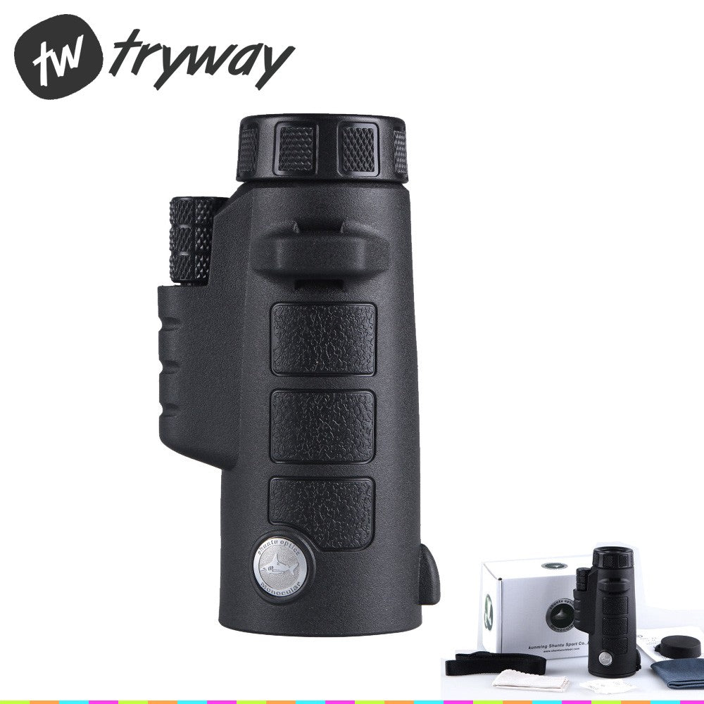 Shark 8x42 Tactical Telescope Green Optics Waterproof  mini Monoculars High-power Hunting binoculars