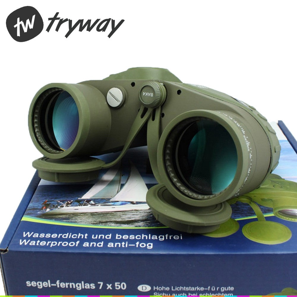 10X50 Binoculars With RANGEFINDER and Compass RETICLE illuminant Military Waterproof BK4 HD OPTICS