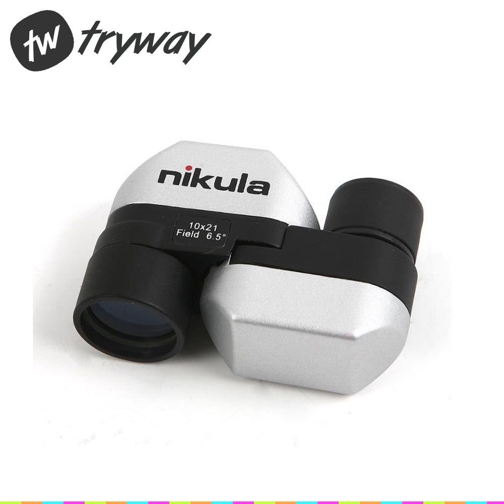 Nikula 10X21 pocket telescope mini monocular telescope spotting scope camping foldable telescope