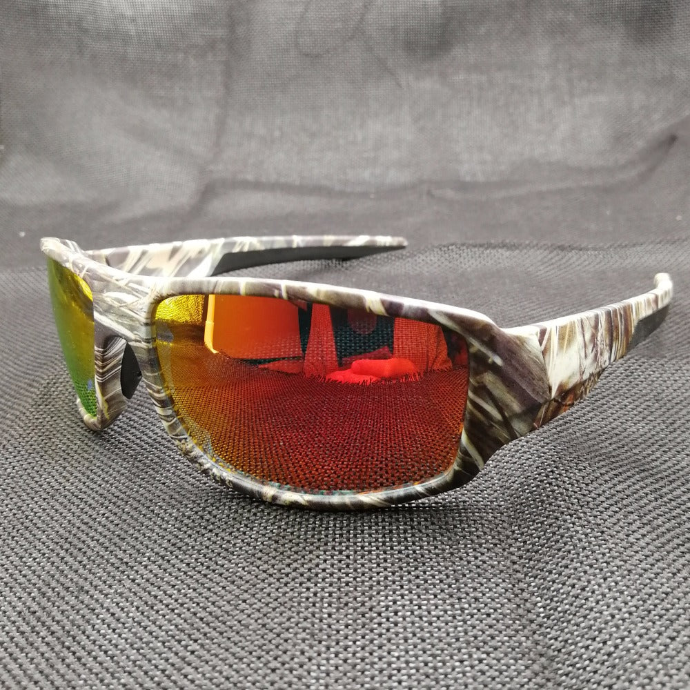 TR90 Outdoor Sports Polarized Sunglasses Mens Camo Cycling Fishing Goggles