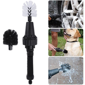 Ultimate Detail Brush Hero Rotary Cleaning Brush Universal Premium Water Powered Wash Brush Turbine hand-held water spray brush