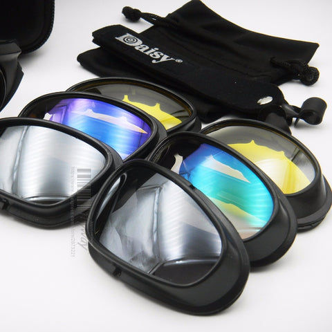 Daisy C5 Polarized Sunglasses Military Goggles Bullet Proof Desert Storm Eyewear Cycling Glasses