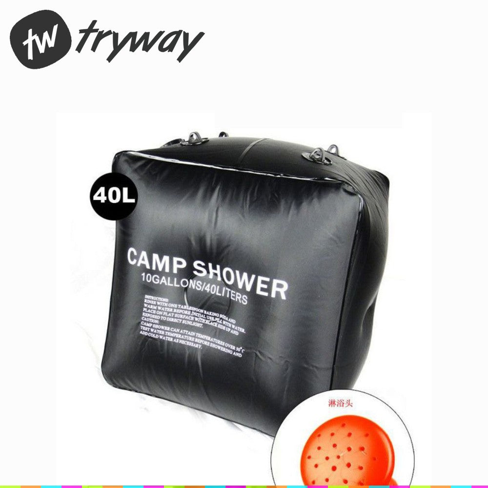 New Camp Shower 40L 10 Gallon/20l 5 Gallon Water Bags Super Solar Shower outdoor Camping Shower