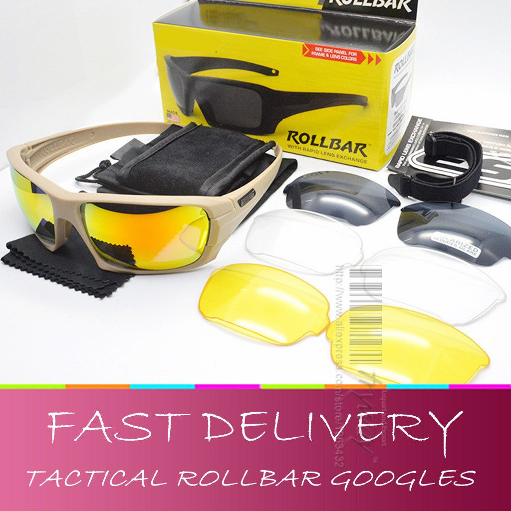 Tactical Rollbar Goggles Polarized lens oculos de sol motorcycles eyewear protection airsoft gafas