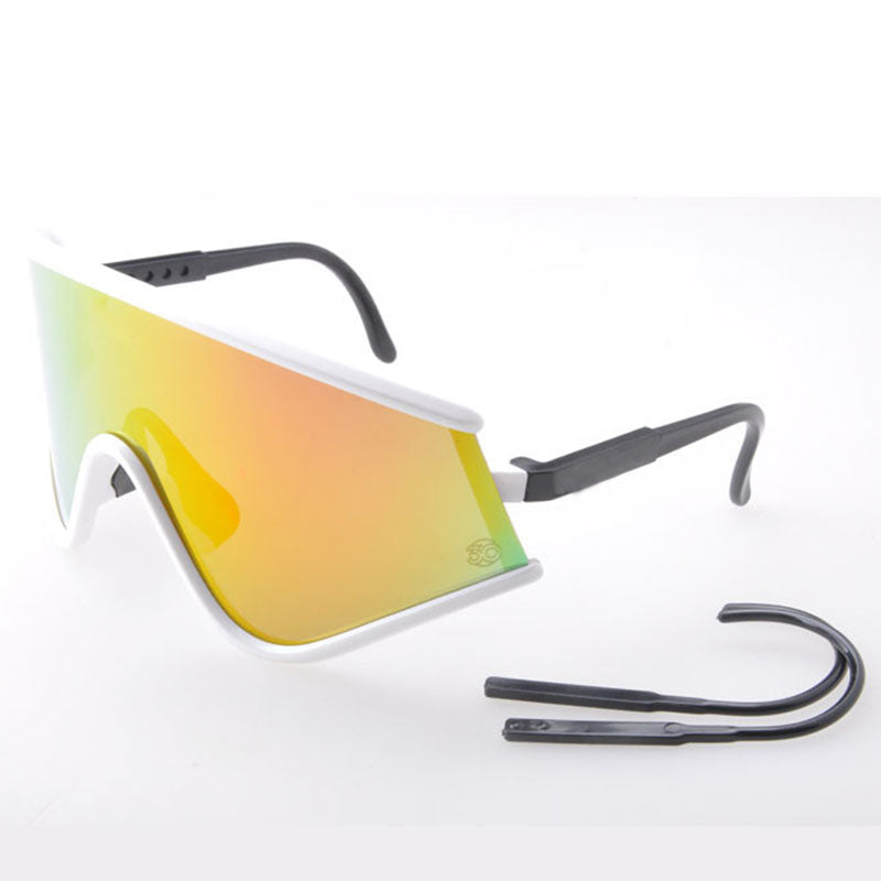 NEW Special Edition Shield sunglasses Bike glasses sports motocross goggles oculos De sol gafas Red Fire iridium men sunglasses