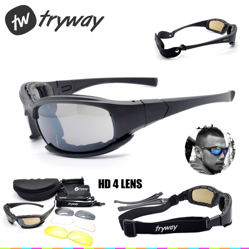 04bc22d38b20 DAISY X7 Goggles Men Military polarized sunglasses Bullet proof airsoft  shooting Cycling glasses