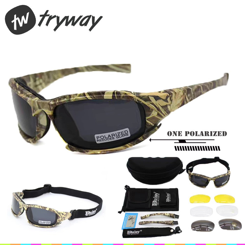 DAISY X7 Goggles Men Military polarized sunglasses Bullet proof airsoft shooting Cycling glasses