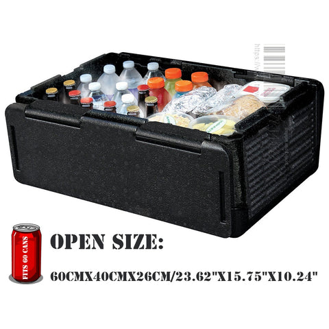 Outdoor camping Foldable polar cooler box 60 Cans Collapsible Insulated Lightweight Festival cooler