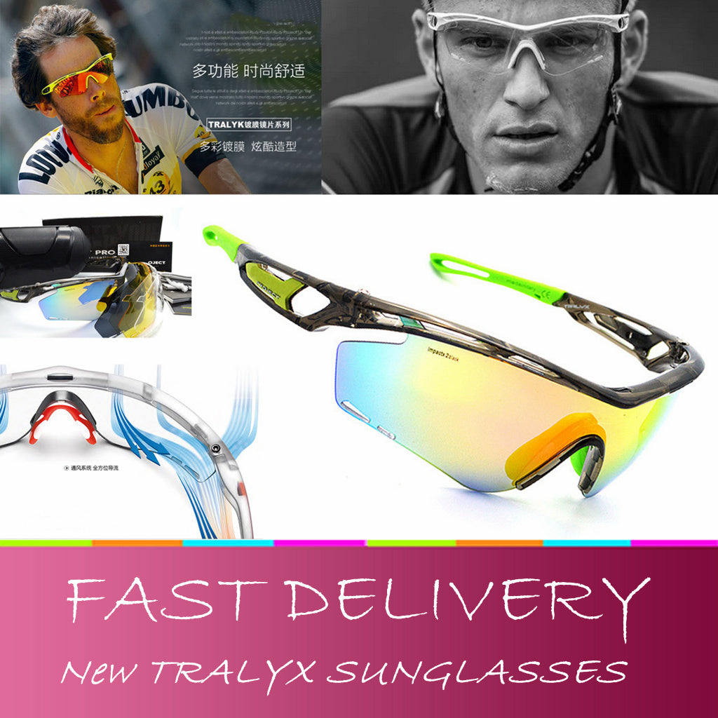 Brand New Bike cycling glasses TRALYX project sunglasses polarized lens sports ciclismo oculos de sol 4 lens eyewear for men with box