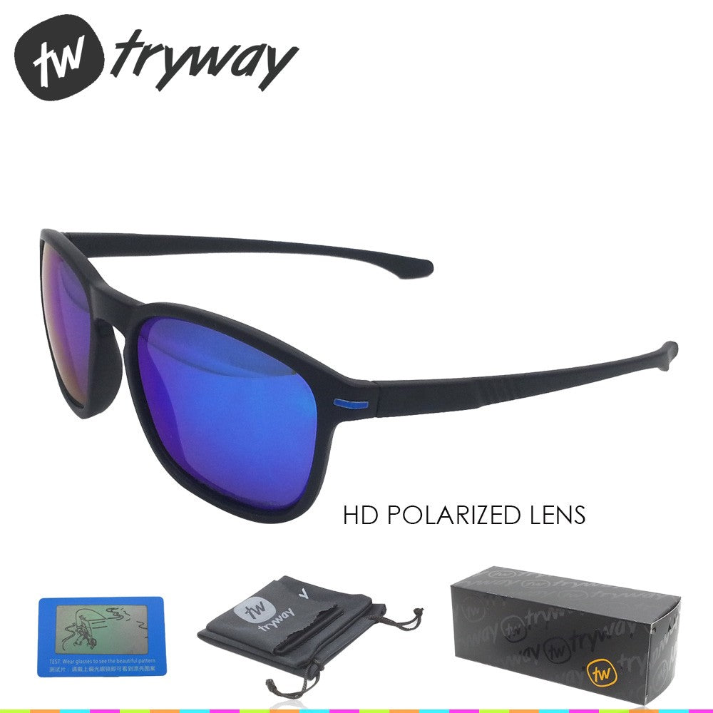 Sports Polarized sunglasses designer enduro oculos de sol feminino sports eyewear polarized TR90 frame 55mm outdoor men glasses with box