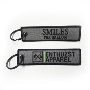 Smiles Per Gallon - Key Tag