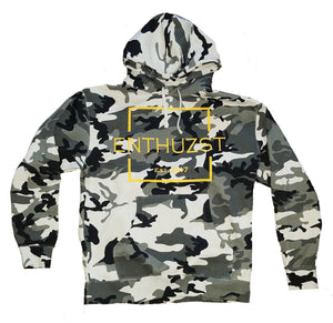 LIMITED - Simplicity Heavyweight Snow Camo Hoodie