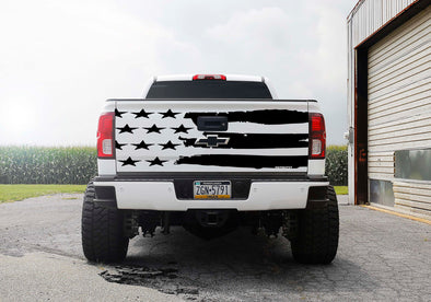 American Flag Tailgate Decal
