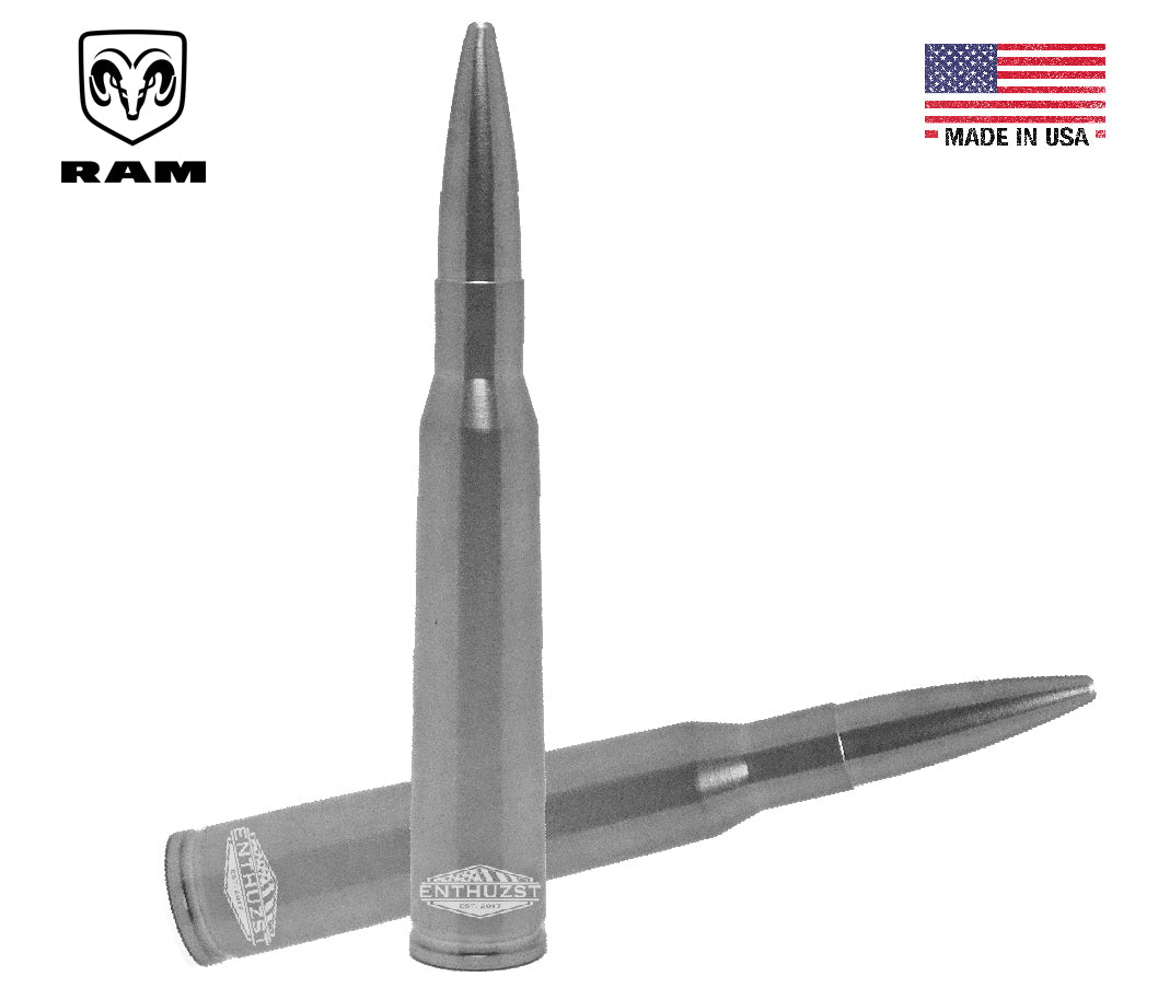 DODGE/RAM *Brushed* .50 Cal Bullet Antenna