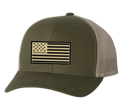 Khaki Enthuzst Flag - Trucker Hat
