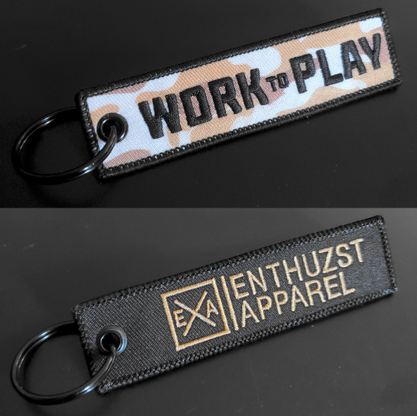 Work To Play - Key Tag