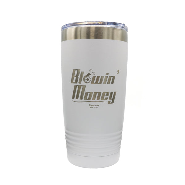 White BM 20OZ Laser Engraved  Tumbler