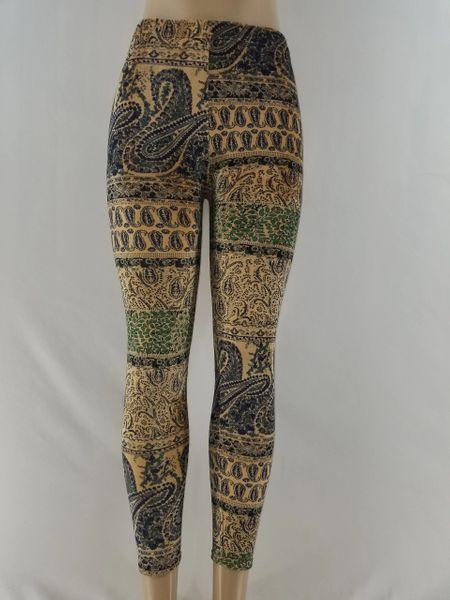 KHAKI MULTI-COLORED LEGGINGS