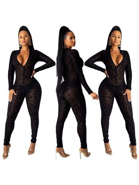 ANIMAL LACE JUMPSUIT - Belle De'esse Boutique