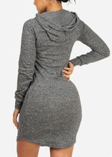 Love Charcoal Dress With Hood