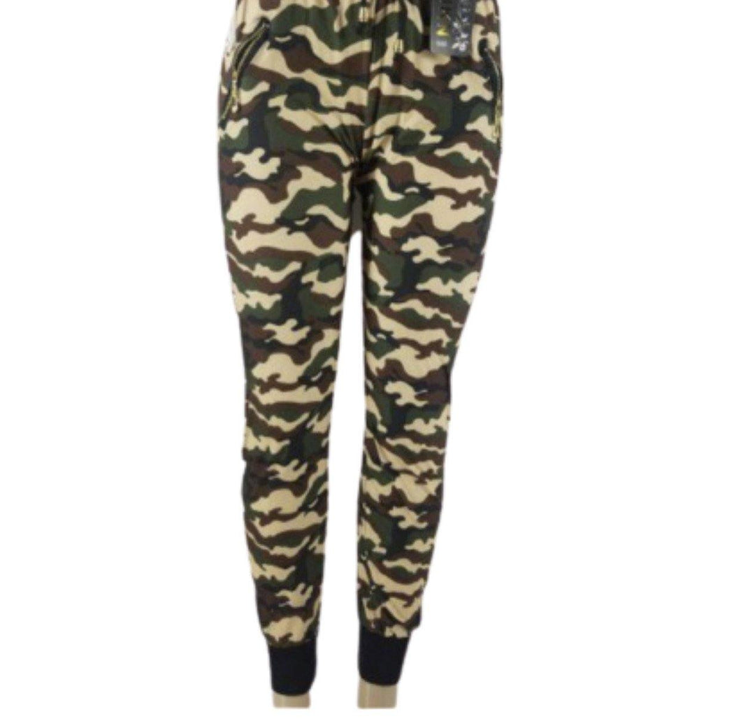 GREEN & BROWN CAMO JOGGERS