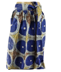 BLUE CIRCLES ANKARA MAXI SKIRT
