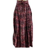 RED CIRCLE MAXI SKIRT - Belle De'esse Boutique