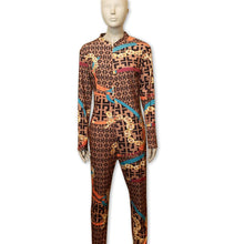 Brown & Orange Chain Jumpsuit - Belle De'esse Boutique