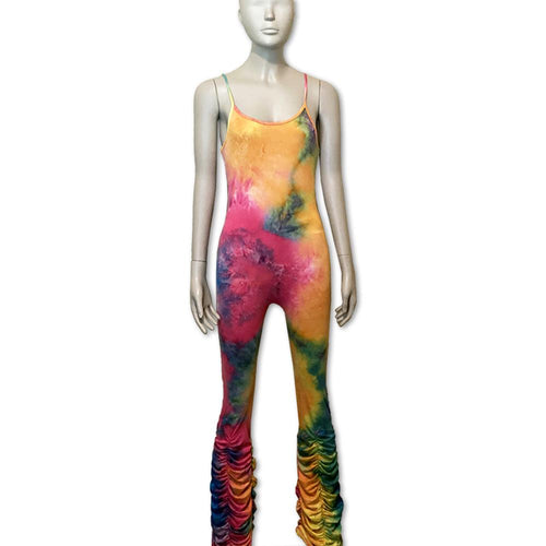 Multi-color stacked Jumpsuit - Belle De'esse Boutique