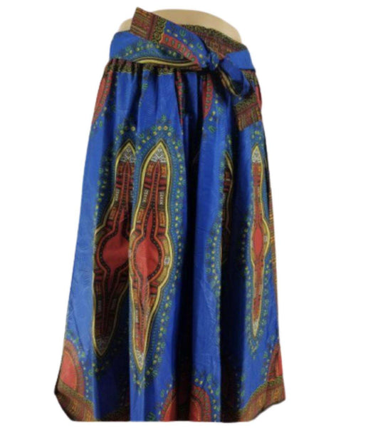 BLUE DENIM MAXI SKIRT - Belle De'esse Boutique