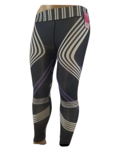 BLACK & PURPLE YOGA PANTS - Belle De'esse Boutique