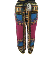 PINK DASHIKI PRINT PANTS - Belle De'esse Boutique