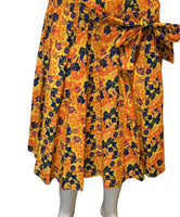 Orange Daze Midi Skirt - Belle De'esse Boutique