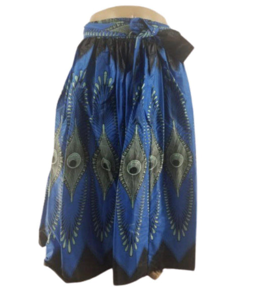 BLUE PEACOCK MAXI SKIRT - Belle De'esse Boutique
