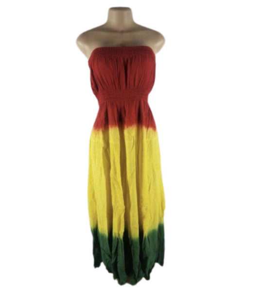 RED, YELLOW,& GREEN DRESS - Belle De'esse Boutique