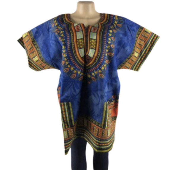 UNISEX BLUE DASHIKI - Belle De'esse Boutique