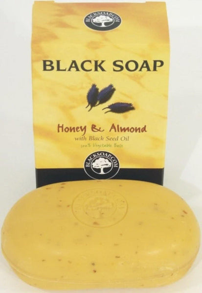 Honey & Almond Black Soap - Belle De'esse Boutique
