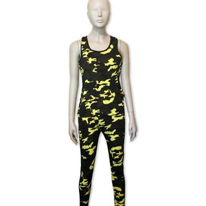Lime Green & Camo Set - Belle De'esse Boutique